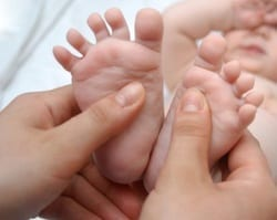 apply oils to feet