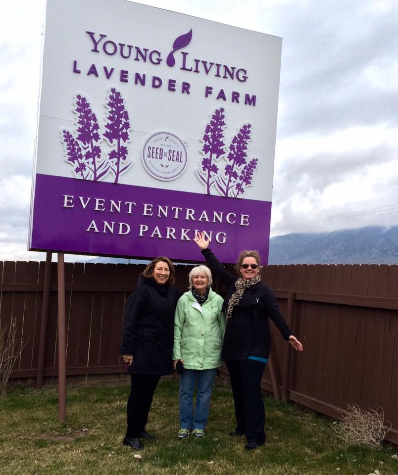 About me and my team at Young Living Farm