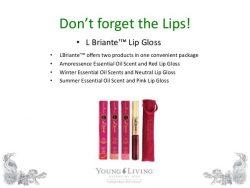 B'briante Lip gloss and oils