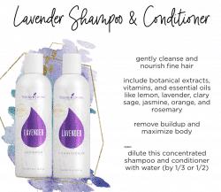 lavender conditioner and Shampoo