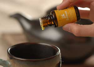 Ingesting oils - adding oils to a cup
