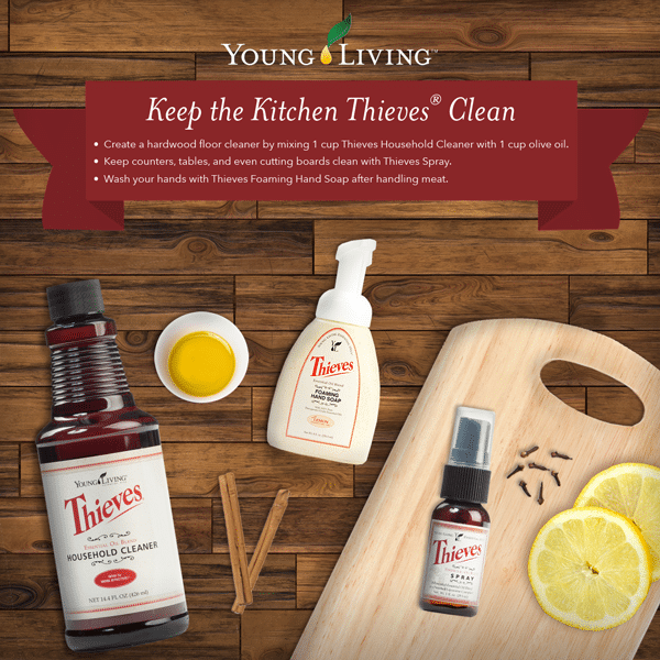 Thieves Blend is easy DIY Kitchen Cleaning